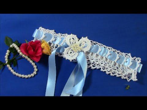 Irish Crochet  Basics, an Easy Wedding  Garter