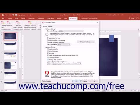 Acrobat Pro DC PDF Preferences in Excel,PowerPoint,&Word - Adobe Acrobat Pro DC Training Tutorial