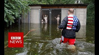 Storm Florence makes landfall - BBC News