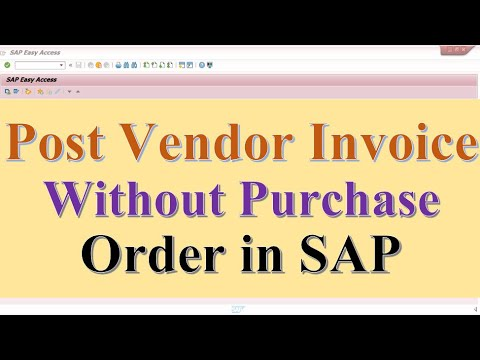 Post vendor Invoice without purchase order in SAP
