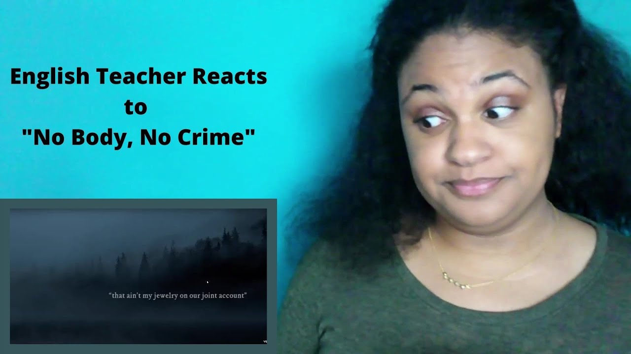 """English Teacher Reacts to """"No Body, No Crime"""" by Taylor Swift for the First Time"""