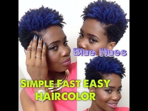 Blue Hues: Fast Simple EASY Temporary Hair Color