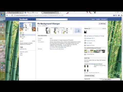 Facebook background for google chrome