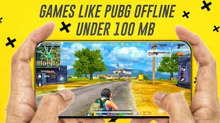Top 5 games like pubg for android offline under 100mb | games like pubg offline | TOPNTOPTECH