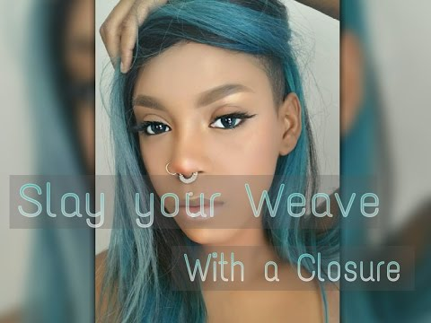 HOW TO: SLAY YOUR WEAVE WITH A SHAVED HEAD AND CLOSURE