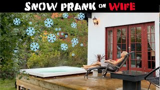 Snow Over Pool Prank (Christmas came early)-Julien Magic
