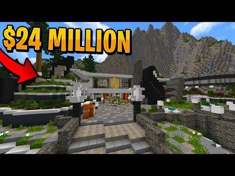 $24 MILLION HILLSIDE MANSION in MINECRAFT!