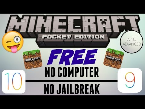 PLAY MINECRAFT PE FOR FREE ON IOS 9 AND 10! NO JAILBREAK/NO COMPUTER | Apple Advanced |