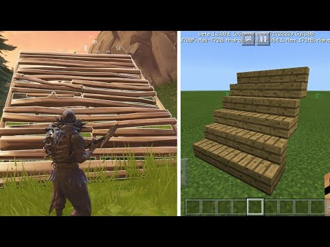 How to Instantly Build Like Fortnite In MCPE 1.2 | Command Block Creation