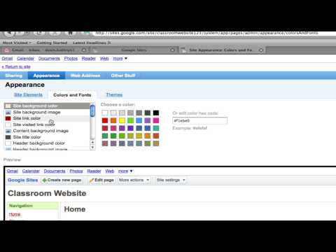 Google Sites #3: How to Change the Appearance of Your Site