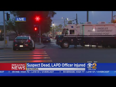 Suspect Dead, LAPD Officer Injured In Pacoima