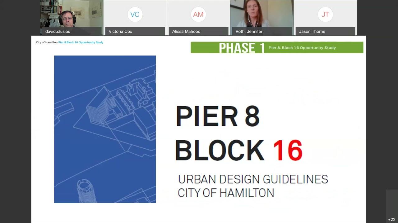 Hamilton West Harbour Urban Design Study @ Pier 8, Block 16
