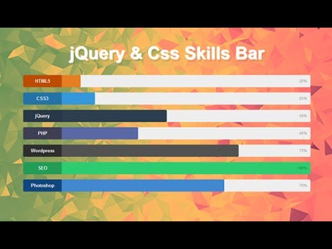 Animated Skill Bar Using Jquery And Css, Javascript Loading Bar