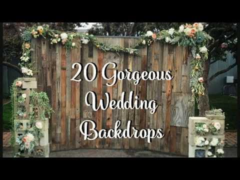 20 Wedding Backdrop Ideas!