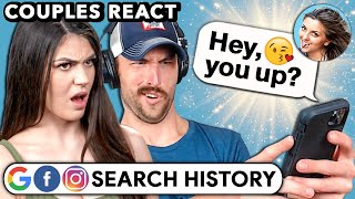 Couples React To Each Other's Search History (Google, Facebook, Instagram)