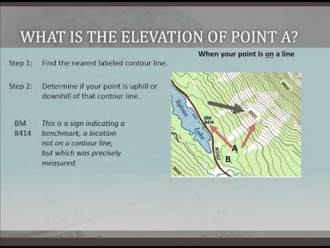 Determining Elevation on a USGS Topographic Map
