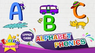 Alphabet Song Letter A To Z Upper Case (Capital Letter) , Learning English For Kids