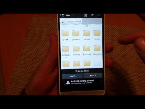 HTC ONE MAX how to transfer PICTURES files folders from internal memory to external sd memory card