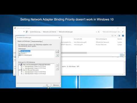 Binding Priority Windows 10 Issue