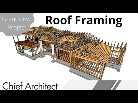 Roof Framing – automatic stick framing and manual truss framing - Grandview Build Project