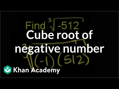 Cube root of a negative number (example) | Pre-Algebra | Khan Academy