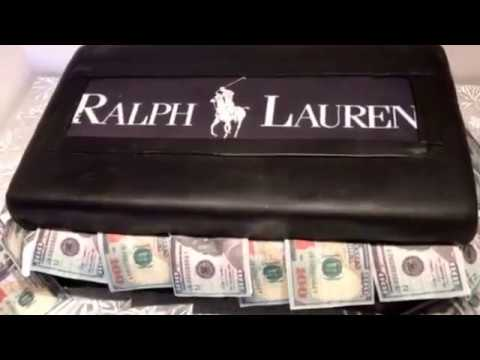 #shoe box cake #moneycake #Cakebossofchester #ralphlauren #Fondant #ediblemoney #ballercake