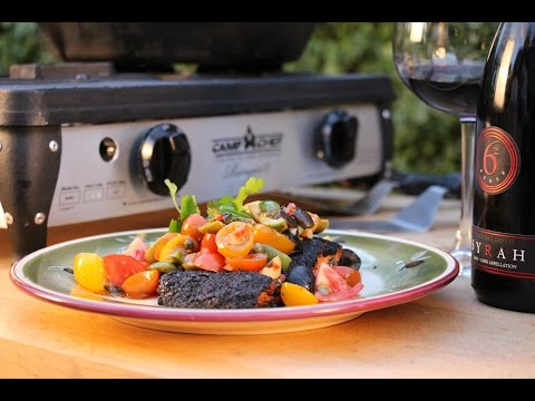 How to Blackened Salmon on The Sporting Chef