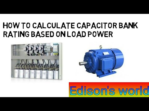 How to calculate capacitor bank/what is power   to capacitor bank calculation formula