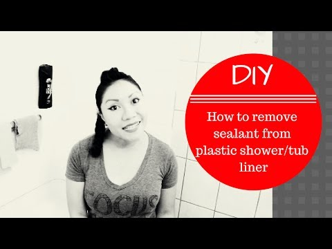 DIY: How To Remove Old Sealant from Plastic Tub Liner tried Non-Chemical