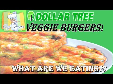 Dollar Tree ONE DOLLAR Veggie Burgers - WHAT ARE WE EATING?? - The Wolfe Pit