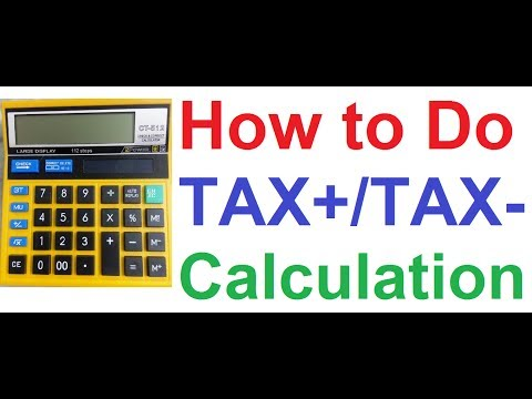 How to Calculate TAX on Normal Non Financial Calculator,Goods & Services Tax (GST),Input Tax Credit