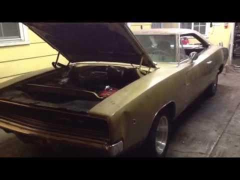 1968 Charger junkyard find start up