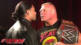 Roman Reigns and Brock Lesnar meet face to face: January 26, 2015