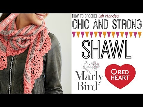 Chic and Strong Crescent Shawl (Left Handed)