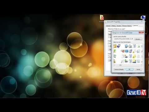 How to change window 7 default foldier icon