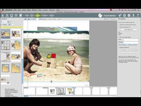 Momento Online Tutorials - Manual Photo Book Layout
