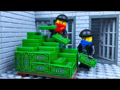 Lego Bank Robbery 🔴 Stop Motion Animation
