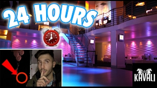 (PS4 GIVEAWAY!) 24 HOUR OVERNIGHT in a NIGHT CLUB FORT | OVERNIGHT CHALLENGE IN A BAR NIGHT CLUB!