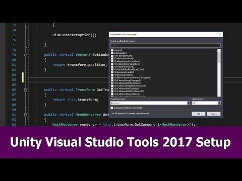 Unity Visual Studio 2017 Setup & Tools