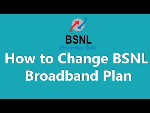 How to Change BSNL BroadBand Plan