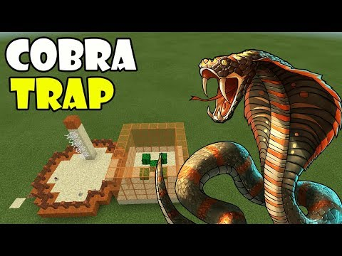 How to Make a Cobra Trap | Minecraft PE