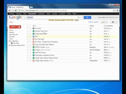 Google Apps Document Collections