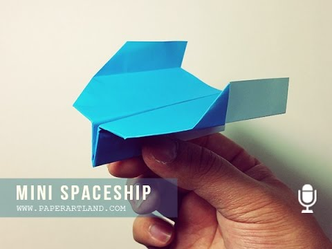 BOOMERANG PAPER AIRPLANE for KIDS - How to make a paper airplane that FLIES BACK | Mini SpaceShip