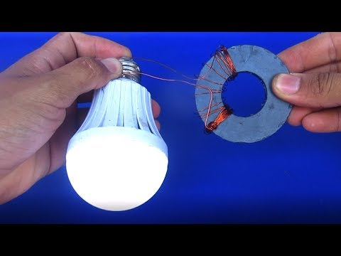 Free energy generator magnets very easy - Simple DIY experiments at home 2018