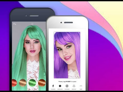 With Fabby Change the Color of your Hair (free iPhone app)
