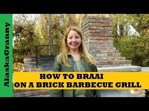 How to Braai Grill Steaks on Brick Chimney Barbecue Fireplace