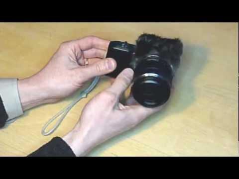 Compact camera microphone windscreen (wind muff)