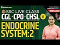 Endocrine System Part 2 | SSC Live Classes General Studies Day 6 | SSC CGL, CHSL 2019, CPO & SSC GD