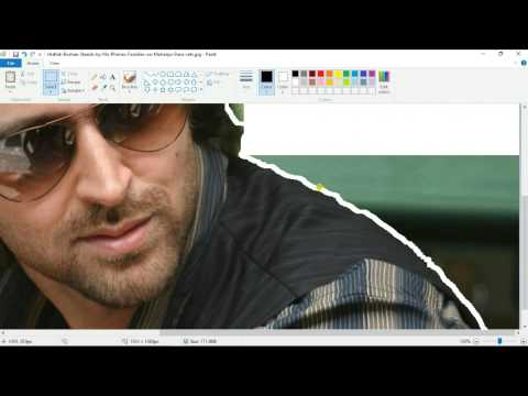 How to change image background Quickly using paint