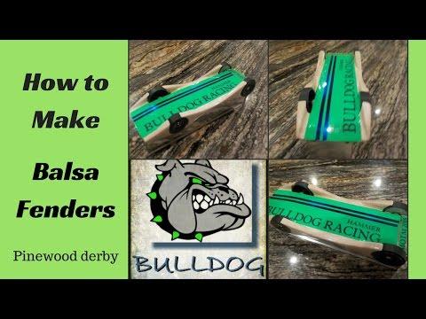 Pinewood derby Balsa Fenders